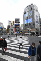 Far fewer pedestrians than usual cross the
