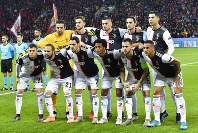 In this Wednesday, Dec. 11, 2019 filer, Juventus team players pose prior to the start of the Champions League Group D soccer match between Bayer Leverkusen and Juventus at the BayArena in Leverkusen, Germany. Cristiano Ronaldo and his Juventus teammates, combined with coach Maurizio Sarri, have agreed to forgo 90 million euros ($100 million) in wages if the Serie A season does not resume due to the coronavirus outbreak, the club announced Saturday. (AP Photo/Martin Meissner, File)