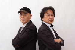 花田紀凱さん(左)と斎藤貴男さん(右)=東京都内で2020年3月9日、中村琢磨撮影