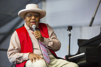 Ellis Marsalis during the New Orleans Jazz & Heritage Festival in New Orleans. New Orleans Mayor LaToya Cantrell announced on April 1, 2020, that Marsalis has died. He was 85. (AP Photo/Sophia Germer)