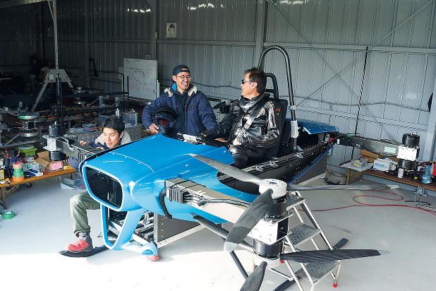 有人飛行試験を行った機体 スカイドライブ提供