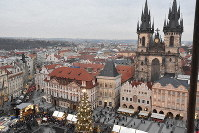 This file photo taken in December 2017 shows the cityscape of Prague, the Czech Republic. (Mainichi/Koji Miki)