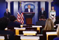 President Donald Trump speaks during a coronavirus task force briefing at the White House, April 4, 2020, in Washington. (AP Photo/Patrick Semansky)