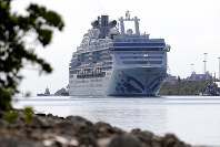 The Coral Princess cruise ship arrives at PortMiami during the new coronavirus outbreak, April 4, 2020, in Miami. (AP Photo/Lynne Sladky)
