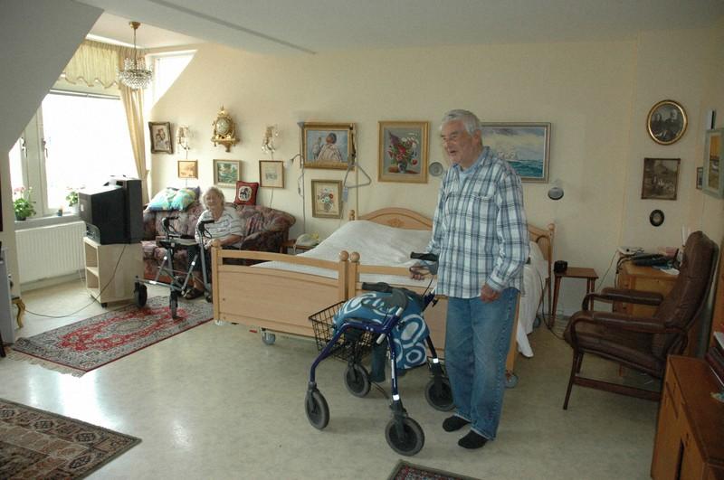 高齢者センターでは、夫婦が一緒の部屋で暮らすことも可能である。自己決定が最大限尊重されている=筆者撮影