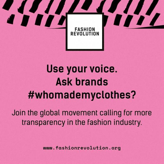 Fashion Revolution Weekの運営団体が提供するキャンペーンロゴ。