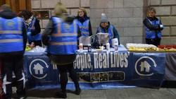 ダブリン市内では市民団体がホームレスのため炊き出しを行うのが日常の風景だ=アイルランド・ダブリンで2020年3月4日、横山三加子撮影