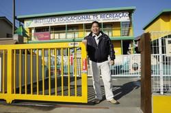 理事長を務める「ティー・エス学園」(埼玉県上里町)には、日系ブラジル人の子どもたちが多く通う 撮影=蘆田 剛