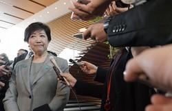 首相に緊急事態宣言発令を催促する発言を繰り返してきた小池百合子東京都知事=3月31日