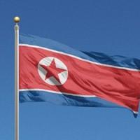 北朝鮮の国旗=ゲッティ
