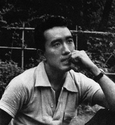 Yukio Mishima is pictured in this 1956 file photo.