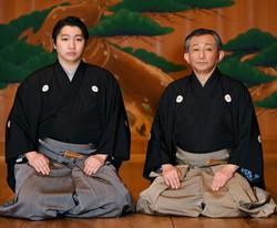 観世清和さん(右)と観世三郎太さん 撮影/内藤絵美