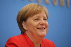 ドイツのメルケル首相は「現実を直視する」との評価がある =ベルリンで2018年7月20日、ベルリン支局助手メルリン・ズグエ撮影