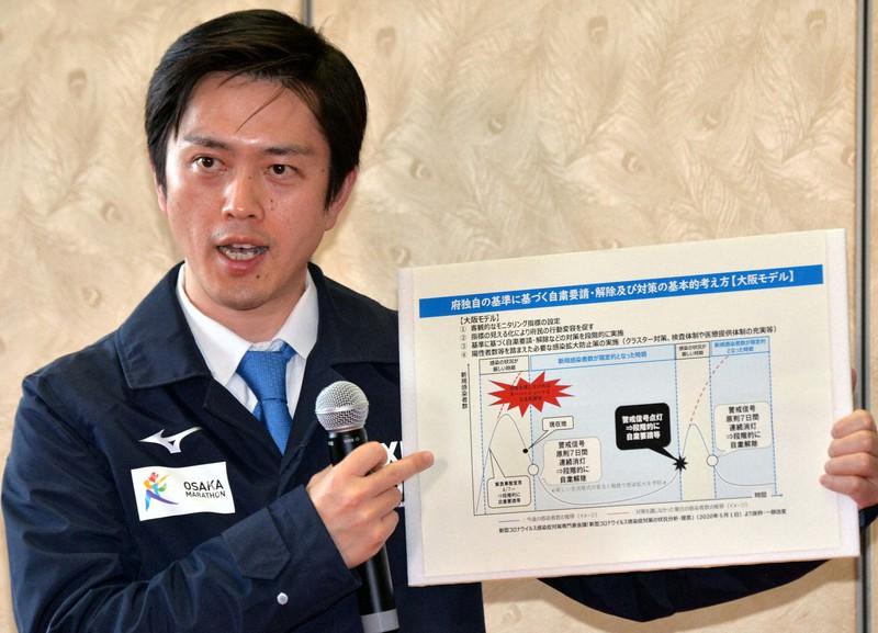 5月5日に「大阪モデル」を発表した吉村洋文府知事