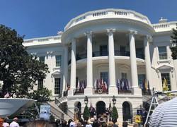 米ホワイトハウスの中庭サウス・ローン=米ワシントンで2019年(令和元年)7月15日、高本耕太撮影