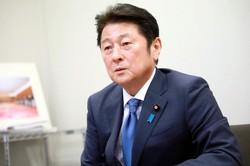 松山政司氏=岡本同世撮影