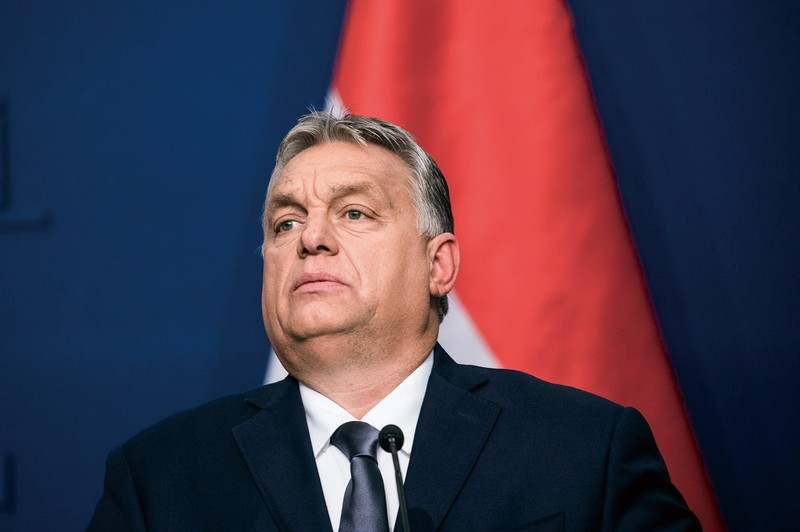 強行統治で知られるハンガリーのオルバン首相 (Bloomberg)