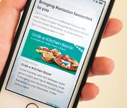 ラマダンビュッフェ中止で配車アプリ活用の出前サービスを利用 筆者撮影