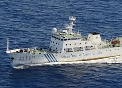 尖閣諸島・魚釣島へ向かう中国の「海監51」=2012年9月14日午前9時37分