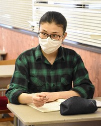 Dao Thi Hai Van, a Vietnamese student studying at a Japanese language school in the western Japan city of Kobe, is seen in this May 20, 2020 photo. (Mainichi/Kwanghoon Han)