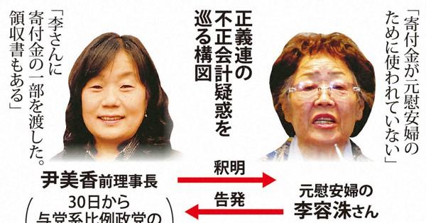 韓国で検察vs与党に発展か 元慰安婦支援団体の前理事長、横領疑惑を ...