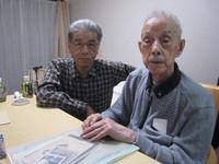 Hideo Kanai, right, and his son Yasuhiro Kanai are seen in Shiki, Saitama Prefecture, on Jan. 16, 2020. (Mainichi/Hiromi Makino)