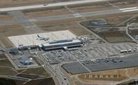 Ibaraki Airport in the city of Omitama, Ibaraki Prefecture, is seen from a Mainichi Shimbun helicopter. (Mainichi/Masaru Nishimoto)