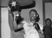 In this April 1969 file photo, welterweight boxer Curtis Cokes trains for his fight against Joe Napoles in Los Angeles. (AP Photo)