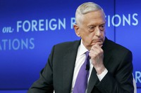 In this Sept. 3, 2019 file photo, former U.S. Secretary of Defense Jim Mattis listens to a question during his appearance at the Council on Foreign Relations in New York. (AP Photo/Richard Drew)