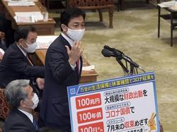 衆院予算委員会で質問をする国民民主党の玉木雄一郎代表=国会内で2020年5月11日、竹内幹撮影