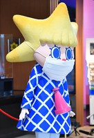 Tokyo Skytree's official mascot Sorakara-chan is seen wearing a mask at the facility, which reopened recently, in Tokyo's Sumida Ward on June 1, 2020. (Mainichi/Takehiko Onishi)