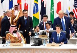 「戦後日本外交の総決算」を掲げてきたが……(2019年6月、大阪府で開かれたサミットで) (Bloomberg)