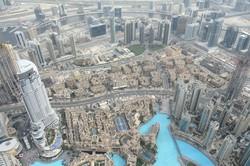 アラブ首長国連邦(UAE)のドバイ。膨大なビル群の建設に携わる外国人労働者の間でも感染が拡大している(2018年2月27日、筆者撮影)
