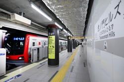 報道陣に公開された虎ノ門ヒルズ駅のホーム=東京都港区で2020年6月2日、小川昌宏撮影