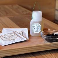 アジサイと共に育てている、アジサイの変種にあたる甘茶。高水さんたちが経営するJR武蔵五日市駅前のカフェ「ドーモファクトリー.ブランコ」で「ちゅういっちゃんのあじさい茶」(600円)として商品化している=東京都あきる野市で2020年6月10日、滝川大貴撮影