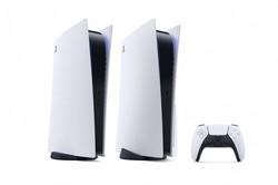 未来的なデザインが特徴の「PS5」の外観 SIE提供