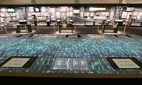 Half of the touch displays to search for information about the 1945 U.S. atomic bombing of Hiroshima have been taken out of service to prevent novel coronavirus infections, at the Hiroshima Peace Memorial Museum in Hiroshima's Naka Ward, on June 5, 2020. (Mainichi/Naohiro Yamada)