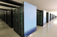 Japan's new supercomputer Fugaku, which ranked as the world's fastest in four categories, is seen in Kobe's Chuo Ward in western Japan, on June 23, 2020. (Mainichi/Tatsuya Onishi)