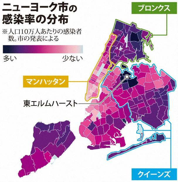 検証プラス・新型コロナ:生死分けた居住地区(その1) NY、移民ら ...