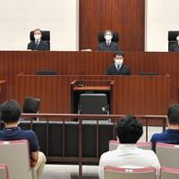 旧優生保護法の損害賠償訴訟の判決公判が開かれた東京地裁の法廷=東京都千代田区で2020年6月30日午後(代表撮影)