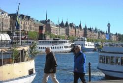 スウェーデンの首都ストックホルム。14の島の上に広がる海上都市(2016年9月4日、筆者撮影)