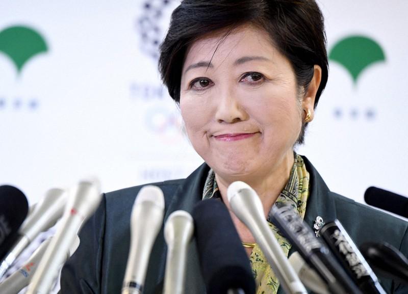 豊洲移転を発表した小池百合子知事=東京都庁で2017年6月20日、竹内紀臣撮影