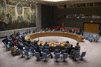 The United Nations Security Council meets on Jan. 31, 2020. (UN Photo/Eskinder Debebe)