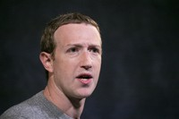 In this Oct. 25, 2019 file photo, Facebook CEO Mark Zuckerberg speaks at the Paley Center in New York. (AP Photo/Mark Lennihan)