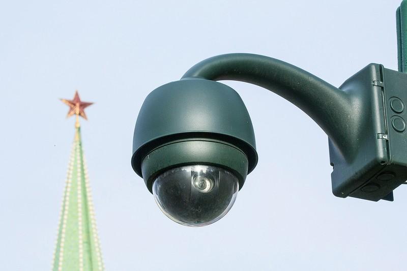 既にモスクワ市内には多数の監視カメラが設置されている (Bloomberg)