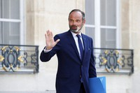 In this June 3, 2020 file photo, French Prime Minister Edouard Philippe leaves after a meeting at the Elysee Palace in Paris. (Gonzalo Fuentes/Pool via AP)