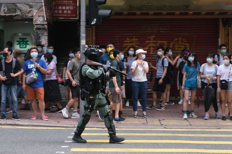 香港国家安全維持法(CAP)が施行された7月1日の香港(Bloomberg)