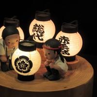造形作家、入江千春さんの山笠をテーマにした作品「火、はいったごたぁ…」=福岡市て2020年6月30日、田後真里撮影