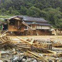 豪雨で浸水被害を受けた熊本県球磨村の民家=同村で2020年7月4日撮影、住民提供