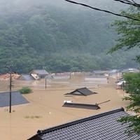 豪雨で浸水した民家=熊本県球磨村で2020年7月4日撮影、住民提供